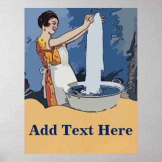 Poster Senhora da lavanderia
