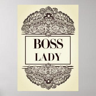 Poster Senhora do chefe - Quote´s positivo
