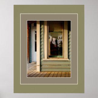Poster Senhora na janela Artprint