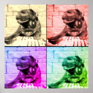 Poster Separação musical da imagem da arte quatro do cão
