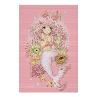 Pôster Sereia (rosa)