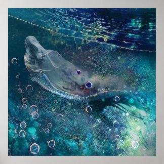 Poster Sereia subaquática da mística do índigo