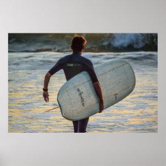 Pôster Série do surfista - herói dramático