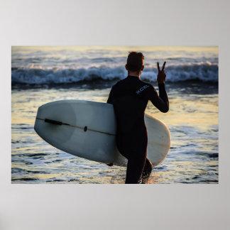 Pôster Série do surfista - paz!