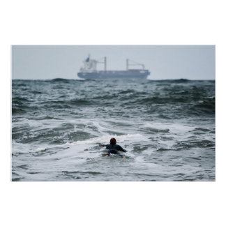 Pôster Série do surfista - perdida no mar