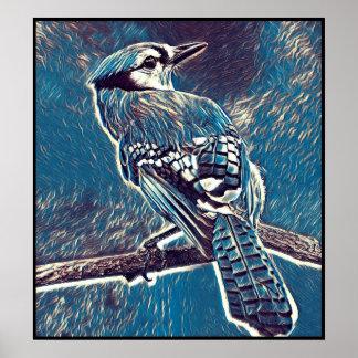 Poster Série estilizado de Jay azul - número 1