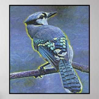 Pôster Série estilizado de Jay azul - número 10