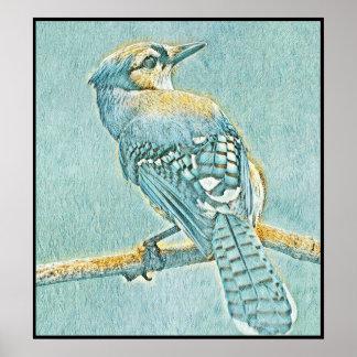 Poster Série estilizado de Jay azul - número 12