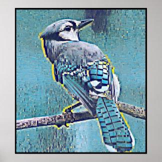 Poster Série estilizado de Jay azul - número 18