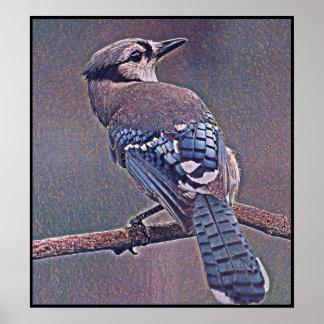 Poster Série estilizado de Jay azul - número 20