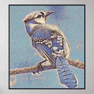 Poster Série estilizado de Jay azul - número 5