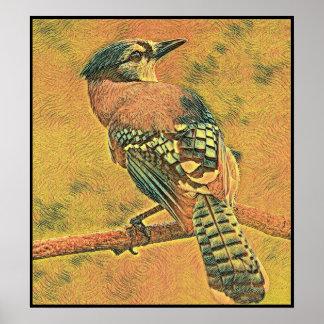 Poster Série estilizado de Jay azul - número 8