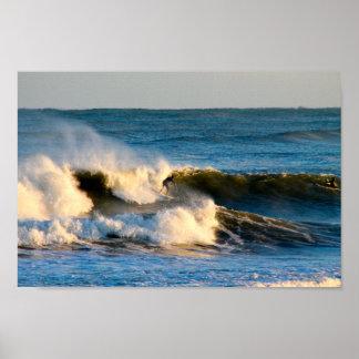 Pôster Sessão do surf da água fria