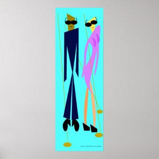 Pôster Shes no rosa por Chris Plante