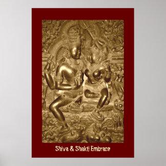Poster Shiva & abraço de Shakti