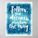 Poster Siga suas citações dos sonhos