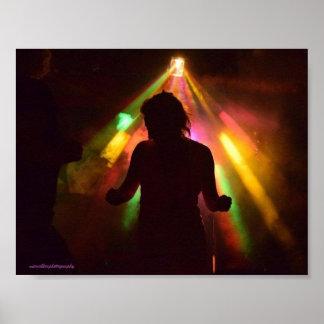 Pôster Silhueta da dança do disco