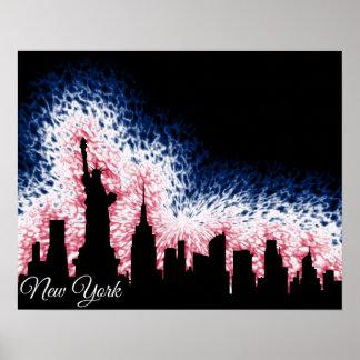Pôster Silhueta da Nova Iorque