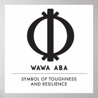 Pôster Símbolo de Wawa Aba | Adinkra da dureza