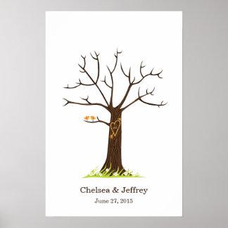 Poster (simples) da árvore da impressão digital