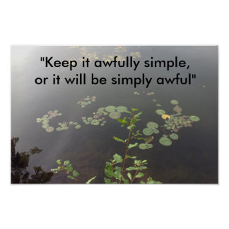 Pôster Simplicidade