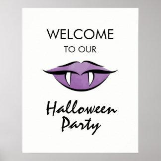 Pôster Sinal de boas-vindas do partido do Dia das Bruxas