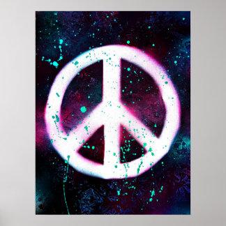 Poster Sinal de paz pintado pulverizador