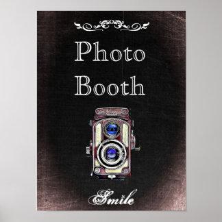 Poster Sinal para a cabine da foto, estilo do casamento