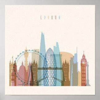 Poster Skyline da cidade de Londres, Inglaterra  