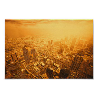 Poster Skyline de Dubai United Arab Emirates