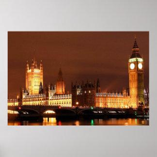 Pôster Skyline de Londres do europeu