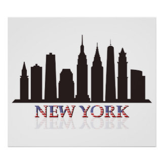 Poster skyline de New York