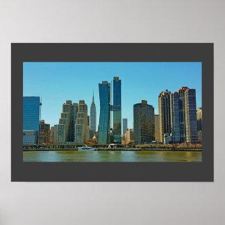 Pôster Skyline de New York do poster…