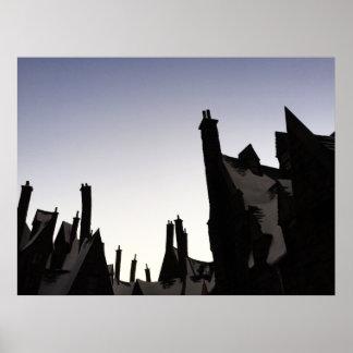 Poster skyline do hogsmeade