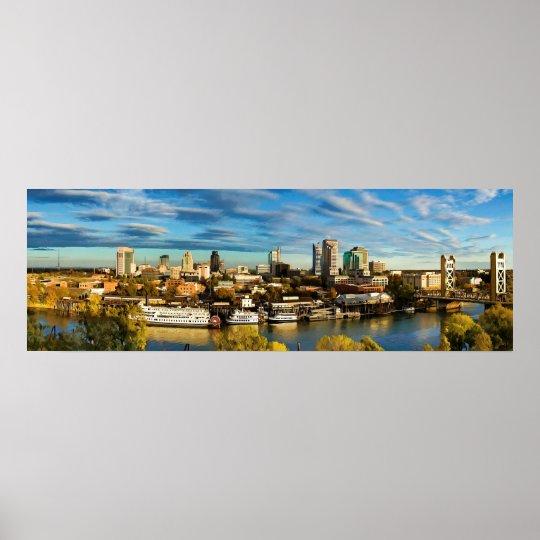 Poster Skyline Sacramento Califórnia da cidade