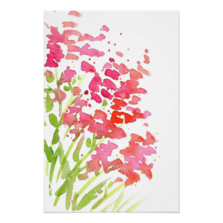 Poster Snapdragons abstrato