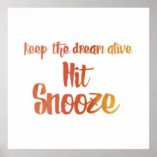 Poster Snooze da batida