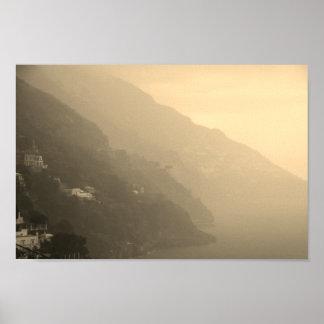 Pôster Sombras do litoral de Amalfi