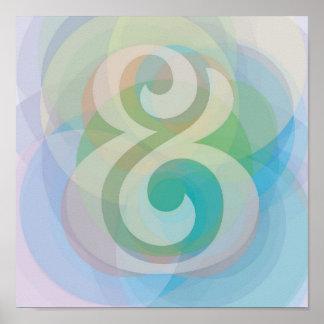 Poster sonhador das bolhas do Pastel de Etherial