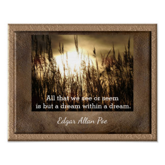 Poster Sonho dentro de um sonho - citações do ponto de