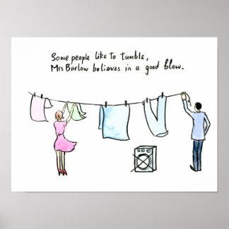 Poster Sopro para fora de lavagem psto esposa da piada da