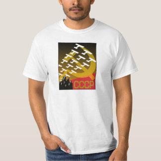Poster soviético da propaganda, poster da guerra camiseta