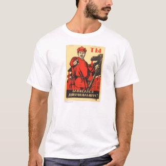 Poster soviético da propaganda tshirts