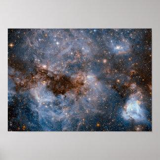 Poster Spectacular da galáxia da astronomia de espaço do