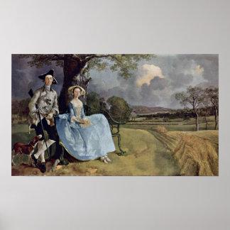 Poster Sr. e Sra. Andrews por Thomas Gainsborough