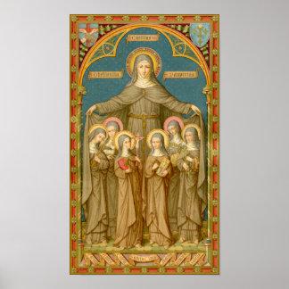 Pôster St. Clare de Assisi & das freiras (SAU 27)