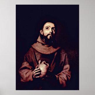 Poster St Francis de Assisi por Jusepe de Ribera