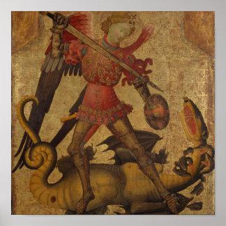 Pôster St Michael e o dragão
