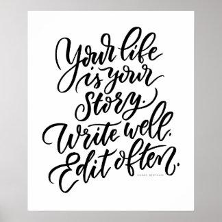 Pôster Sua vida é sua história