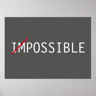 Poster Sucesso inspirado impossível da atitude